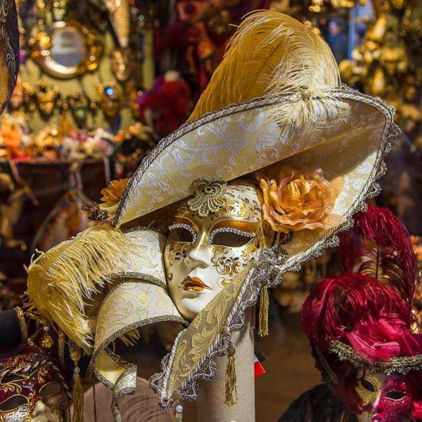 """Подарочная Венецианская маска """"Golden Lady"""""""