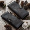 Подарок - классический женский кошелек ручная работа, на заказ 10 х 20 см