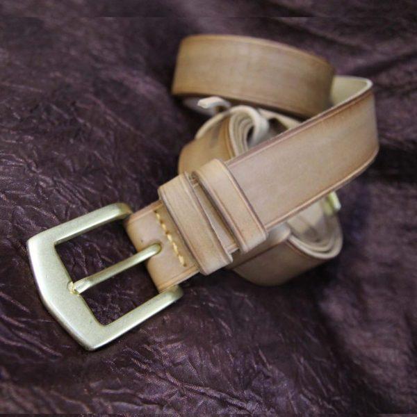 Подарок Ремни из натуральной кожи с ручной прошивкой