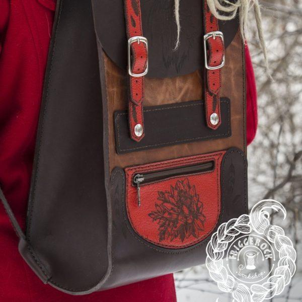Подарок Женский рюкзак из натуральной кожи ручной работы