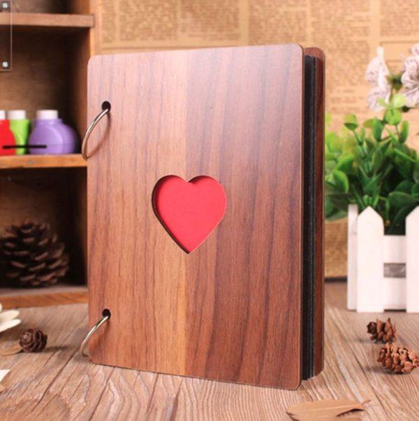 Фотоальбом с деревянной обложкой 12х16 см