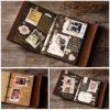 Стильный винтажный подарочный Фотоальбом с кожаной обложкой 15 х 21 см