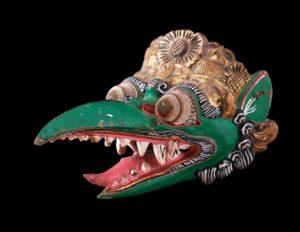Балийские маски - это отличный изысканный подарок, вырезанный из дерева вручную