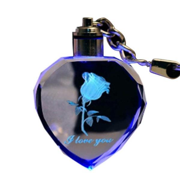 """Брелок """"Хрустальная Роза"""" с разноцветной подсветкой. Купить цена"""