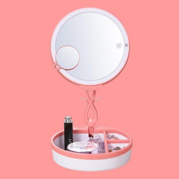 Складное косметическое зеркало с подсветкой - отличный подарок для девушки